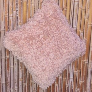 """Other - Large Peachy Pink Fuzzy Accent Pillow 18""""x18"""""""